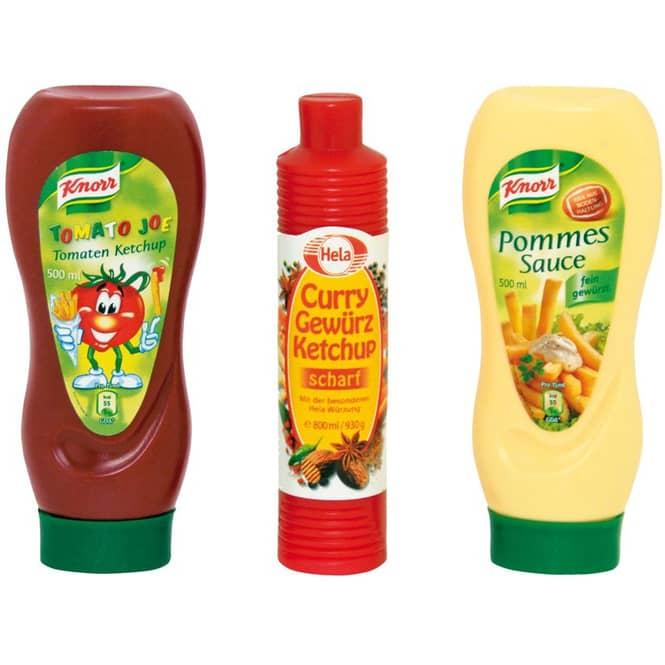 Kaufladenzubehör - Ketchup und Pommessauce