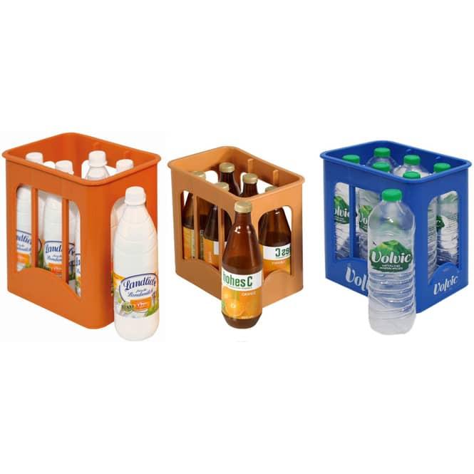 Kaufladenzubehör - Getränkekiste - inkl. 6 Flaschen - 1 Set