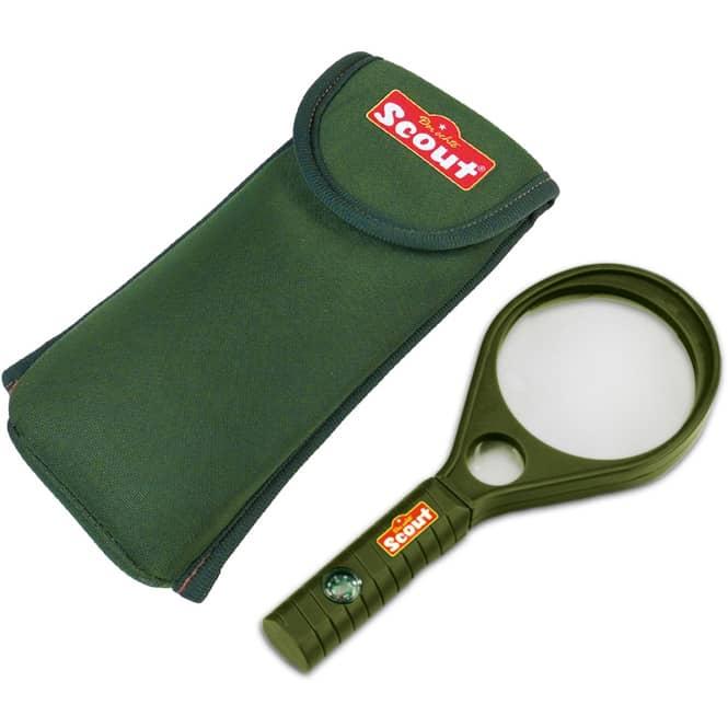 Scout - Lupe - mit Kompass im Griff