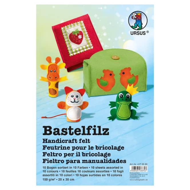 Bastelfilz - 10 Bogen - ca. 20 x 30 cm