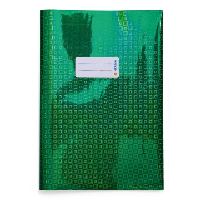 Heftschoner A4 - Glamour - grün holografisch
