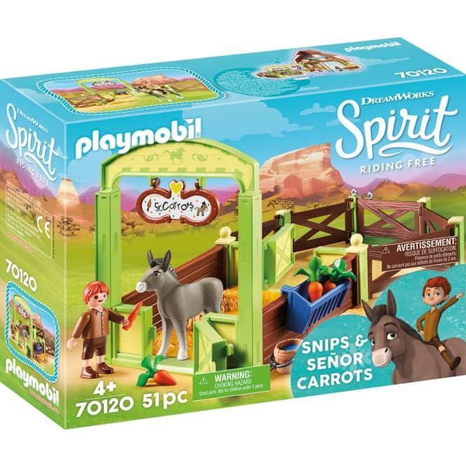PLAYMOBIL® 70120 - Pferdebox Snips & Herr Karotte - Playmobil Spirit