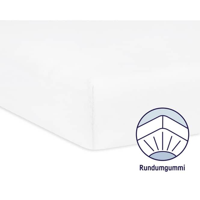 Babybett Spannbettlaken - Jersey - weiß weiß