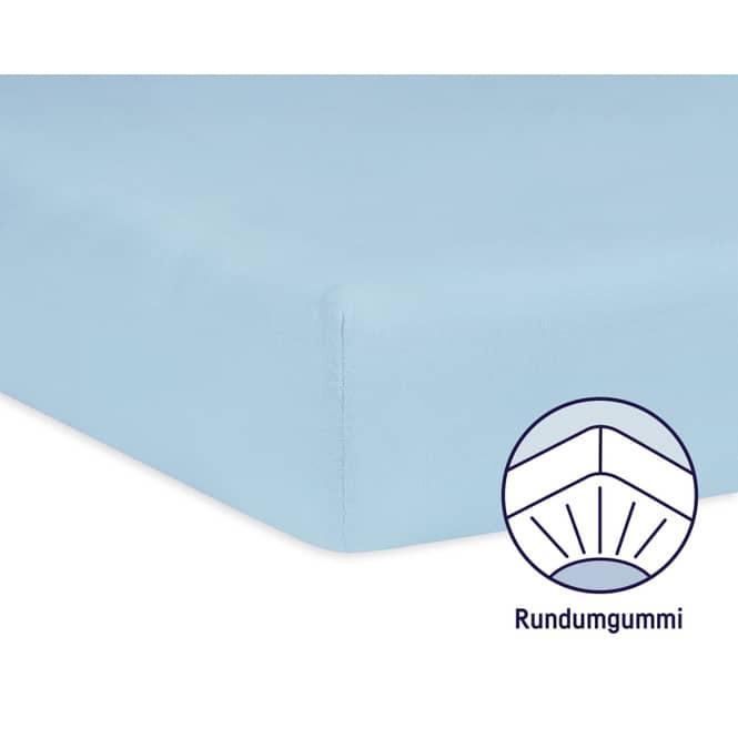 Babybett Spannbettlaken - Jersey - hellblau hellblau