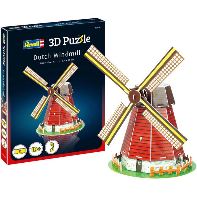 3D Puzzle - Windmühle - 20 Teile