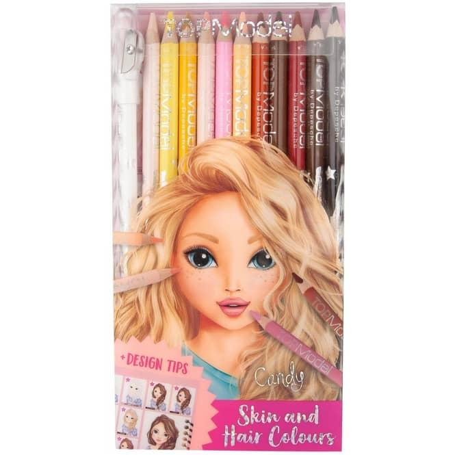 TOP Model - Buntstifteset - Haut- und Haartöne