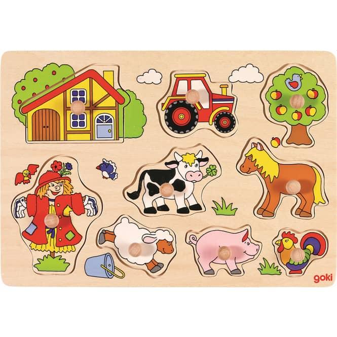 Holzpuzzle - Bauernhof - 9 Teile
