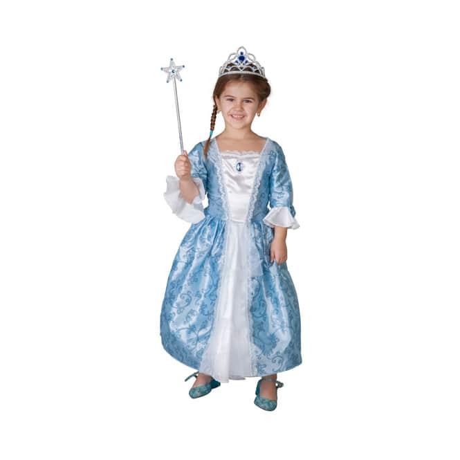 Kostüm - Rankenprinzessin in weiß/blau - für Kinder