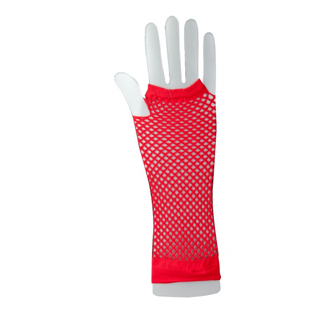 Handschuhe ohne Finger für Erwachsene - Rot rot