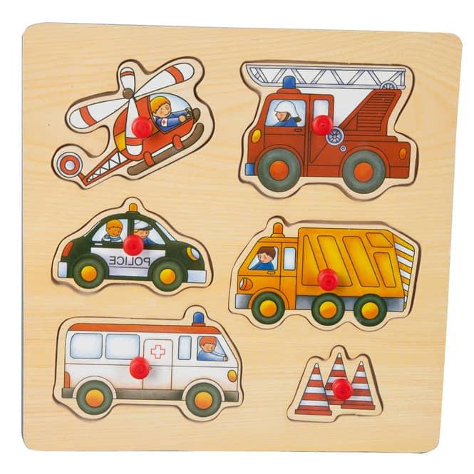 Besttoy - Holz-Puzzle - Einsatzfahrzeuge - 6 Teile