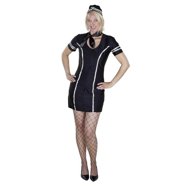 Kostüm Stewardess für Erwachsene 2tlg Kleid & Hut