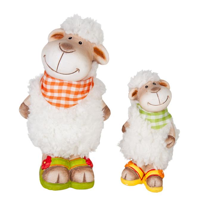 Deko Schaf mit Fell