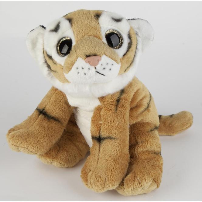 Plüsch Tiger liegend - ca. 26 cm - braun