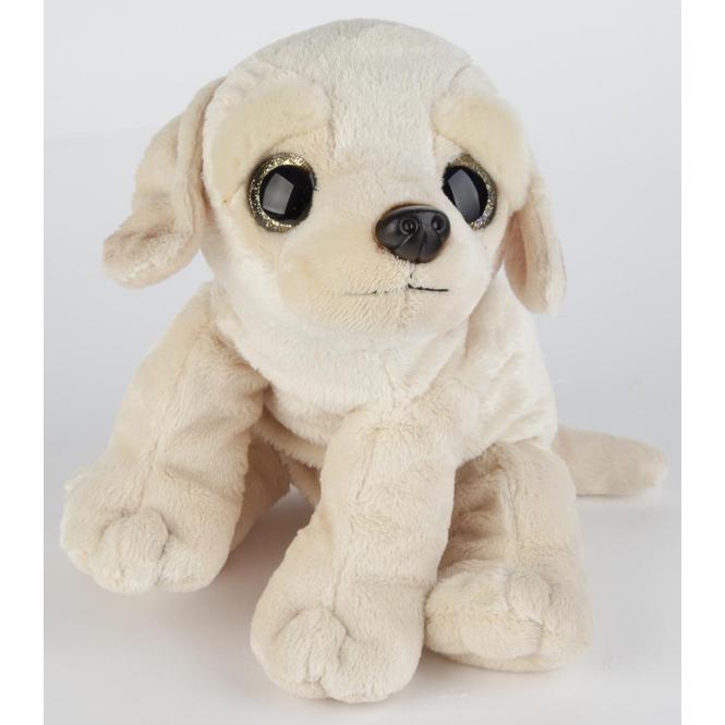 Plüsch Labrador mit großen Augen - ca. 26 cm - beige
