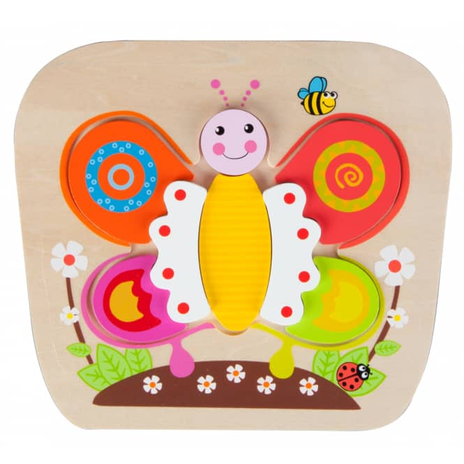 Besttoy - Holz-Puzzle - Schmetterling - 8 Teile