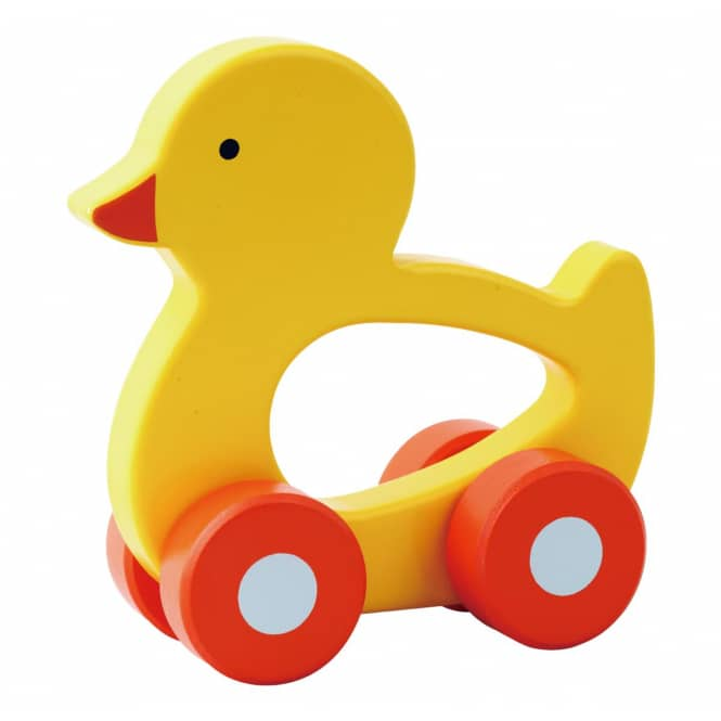 Holz Schiebefahrzeug - Ente