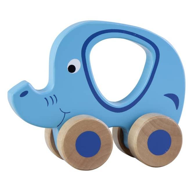 Holz Elefant mit Rollen