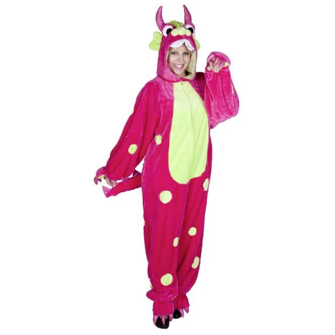 Plüsch Monster Kostüm für Erwachsene, pink