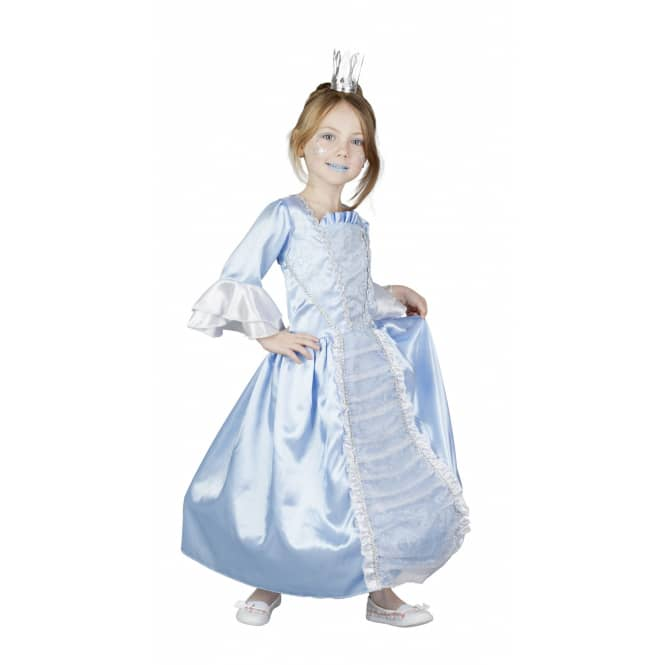 Kinder Kostüm Prinzessin, eisblau/weiß