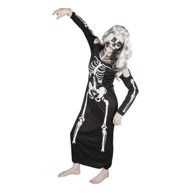 Skelettlady - Kostüm für Erwachsene - in zwei Größen erhältlich