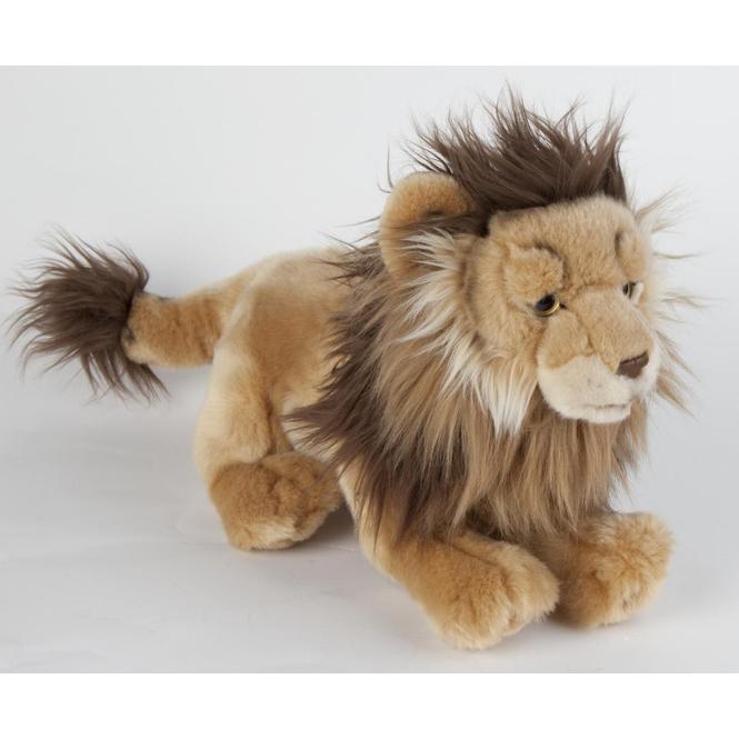 Plüsch Löwe liegend -  ca. 30 cm - braun