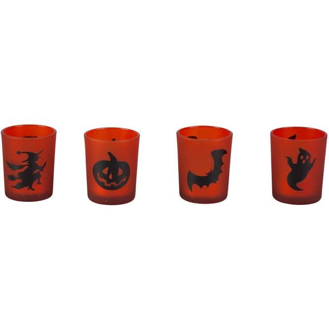 Teelichtglas - Halloween - 5,5 x 6,5 cm - 1 Stück