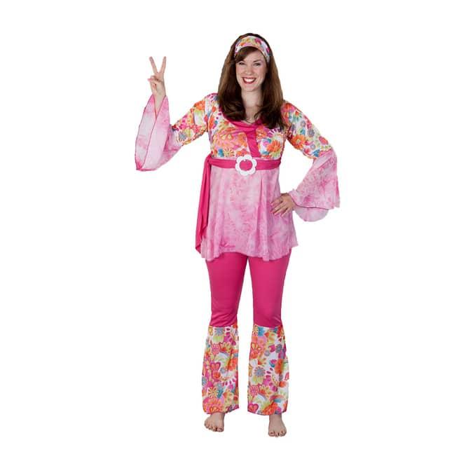 Kostüm - Hippie, für Erwachsene, 2-teilig