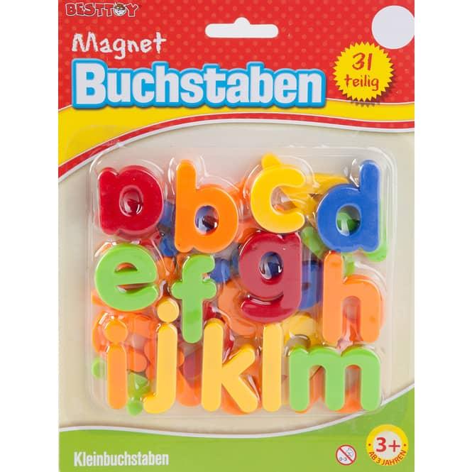 Magnetbuchstaben klein - 31-teilig - Besttoy