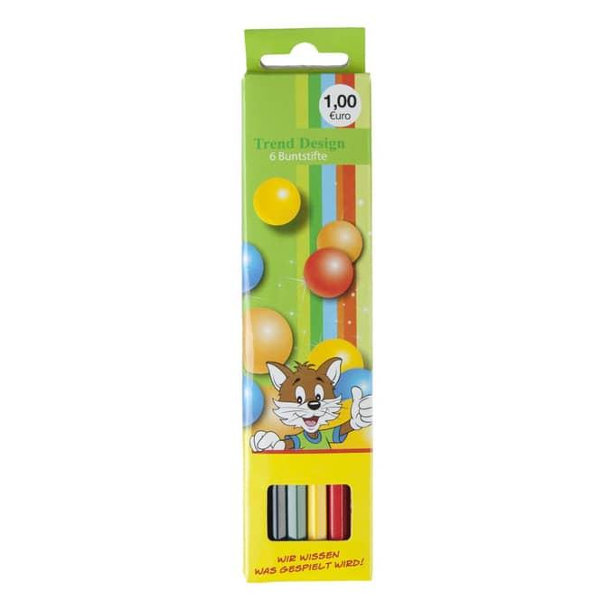 6 Holzbuntstifte - Besttoy
