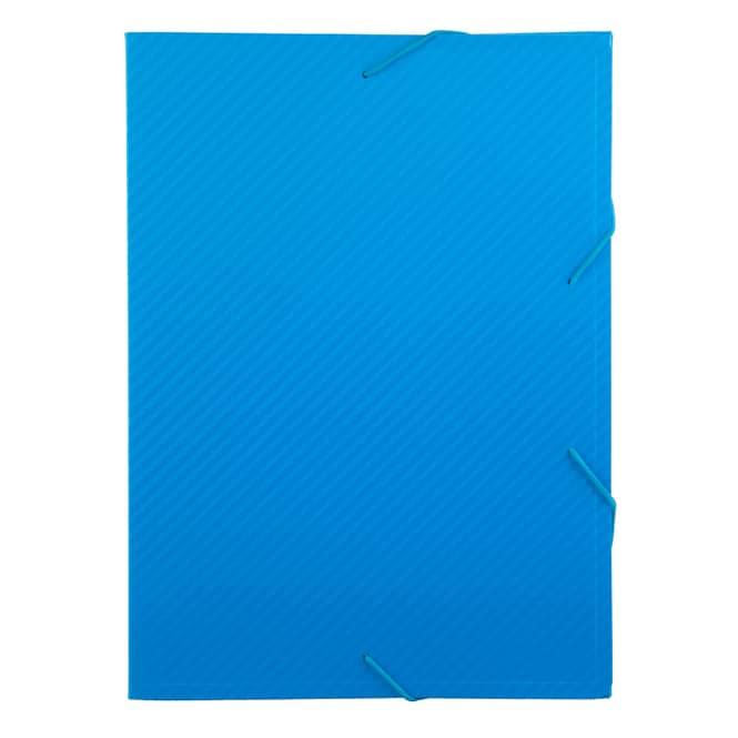 Heftbox A4 - Carbon Design - Blau