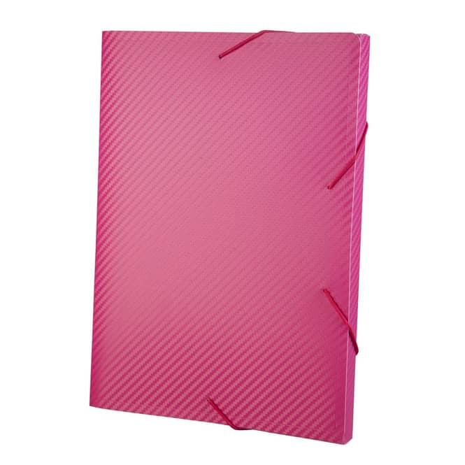 Heftbox A4 - Carbon Design - Pink
