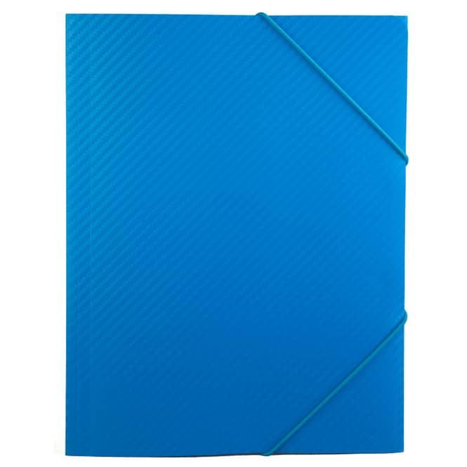 Sammelmappe/ Eckspanner DIN A3 - Carbon Design - Blau