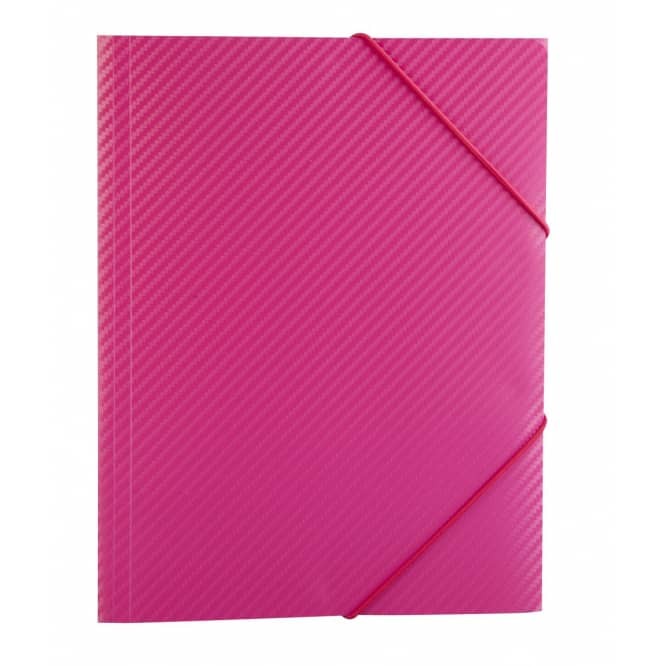 Sammelmappe/ Eckspanner DIN A3 - Carbon Design - Pink