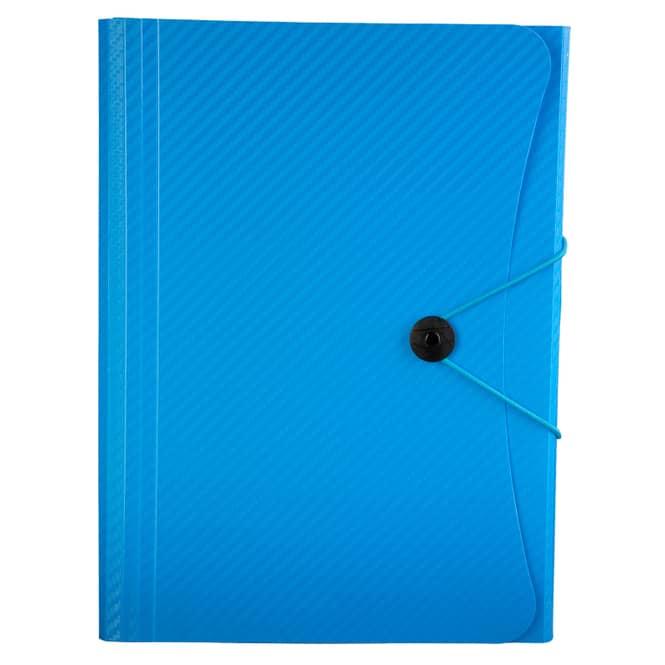 Fächermappe A4 - Carbon Design - Blau