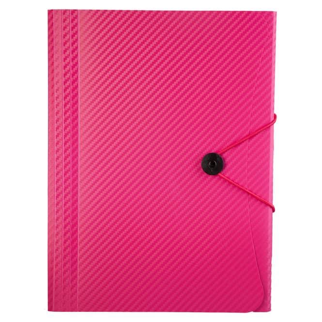 Fächermappe A4 - Carbon Design - Pink