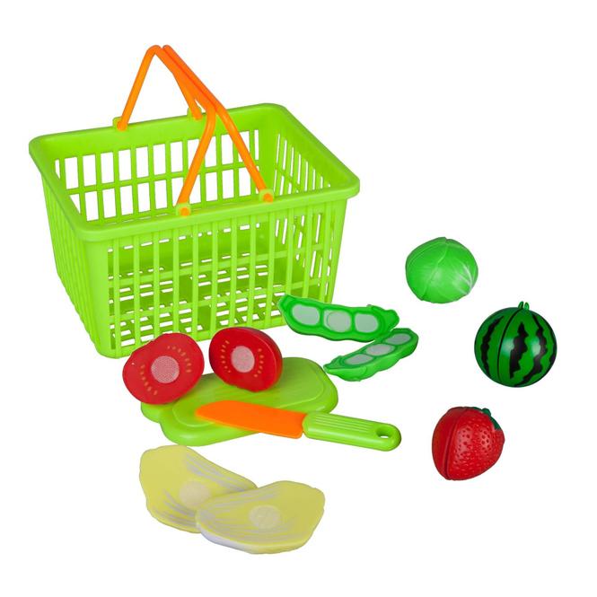 Besttoy - Obst- und Gemüse-Set mit Einkaufskorb