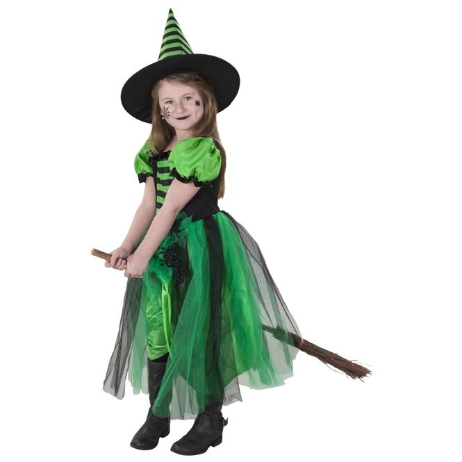 Kostüm - Spinnenhexe - für Kinder - 2-teilig