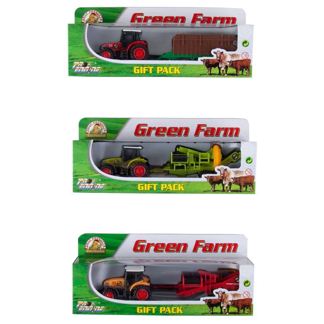 Farm Set - Green Farm - Traktor + Anhänger mittel - 1 Stück