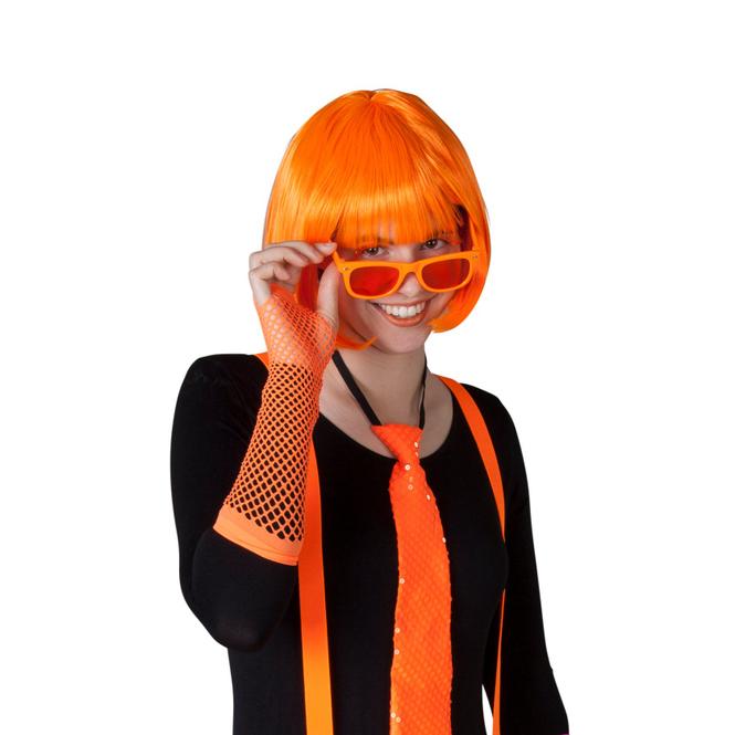 Netzhandschuhe - 1 Paar - für Erwachsene - orange