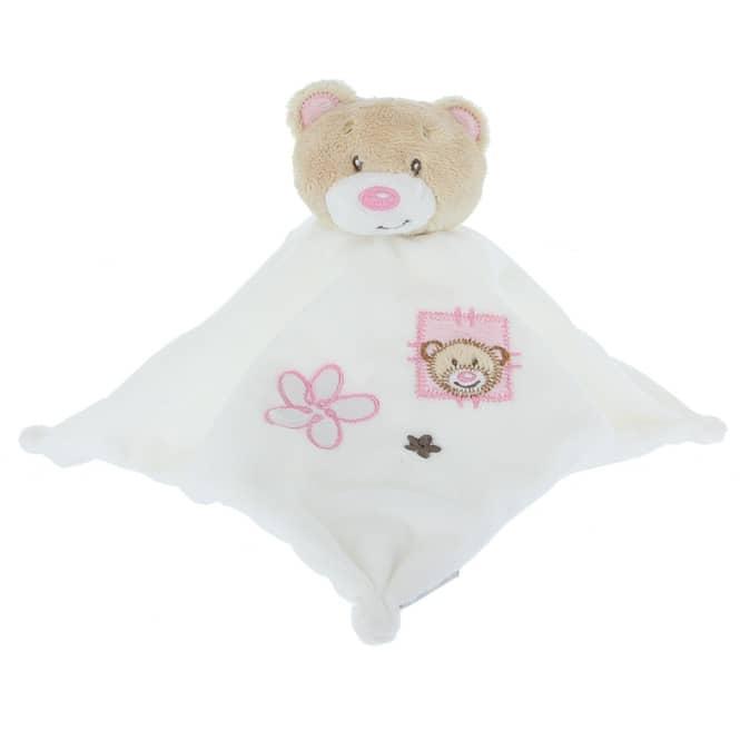 Besttoy - Schmusetuch Bär - rosa