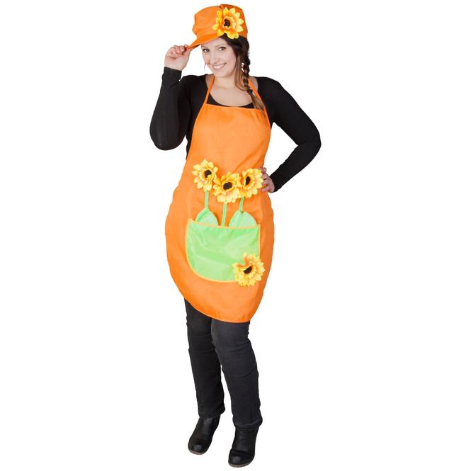 Kostüm - Gärtner - für Erwachsene - 2-teilig - orange