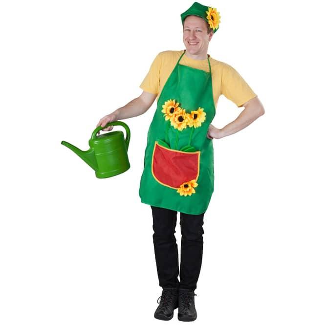 Kostüm - Gärtner -  2-teilig - für Erwachsene - grün