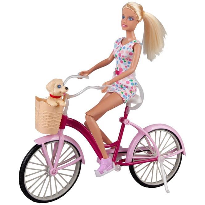 Besttoy - Modepuppe - Lucy mit Fahrrad