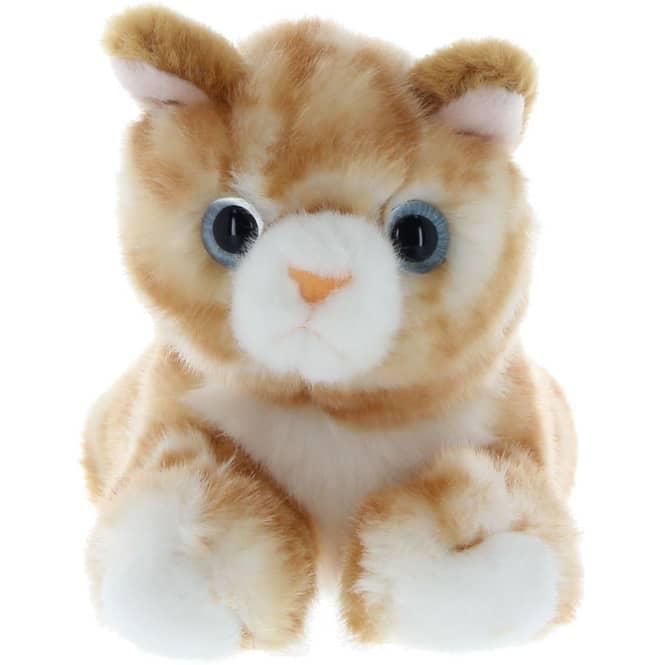 Besttoy - Plüsch-Katze - beige - liegend