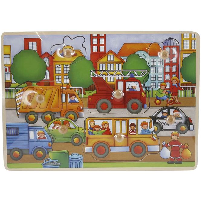Besttoy - Steckpuzzle aus Holz - Verkehr - 7 Teile