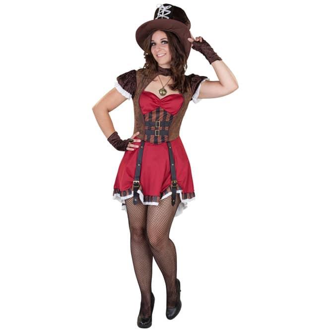 Kostüm - Steampunk Lady - für Erwachsene - 3-teilig - verschiedene Größen