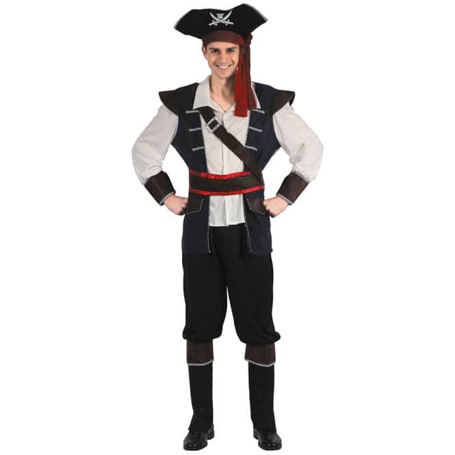 Kostüm - Piratenkapitän - für Erwachsene - 3-teilig - verschiedene Größen