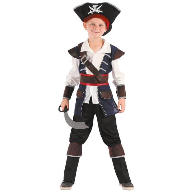 Kostüm - Kleiner Kapitän - für Kinder - 4-teilig - Größe 122/128