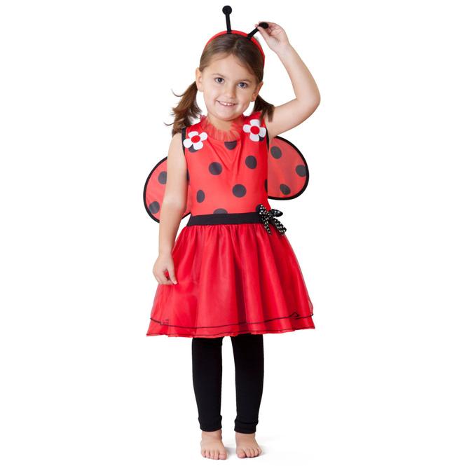 Kostüm - Marienkäferchen - für Kinder - 4-teilig - verschiedene Größen