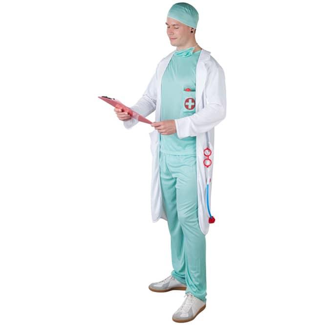 Kostüm - Arzt - für Erwachsene - 5-teilig - Größe 52/54